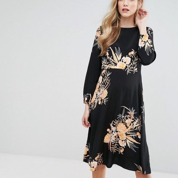 47a599504630b ASOS Maternity Dresses & Skirts - Asos Maternity Floral Print Midi Dress